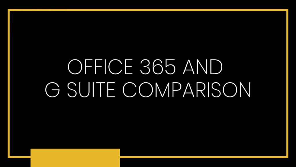 Office 365 G Suite Comparison Damson Cloud
