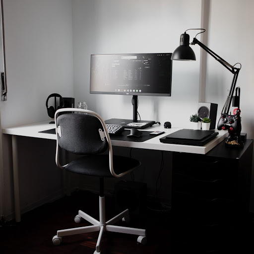 a full office set up provided by a company to support staff