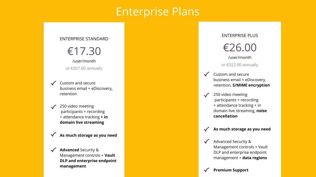 google workspace enterprise plans