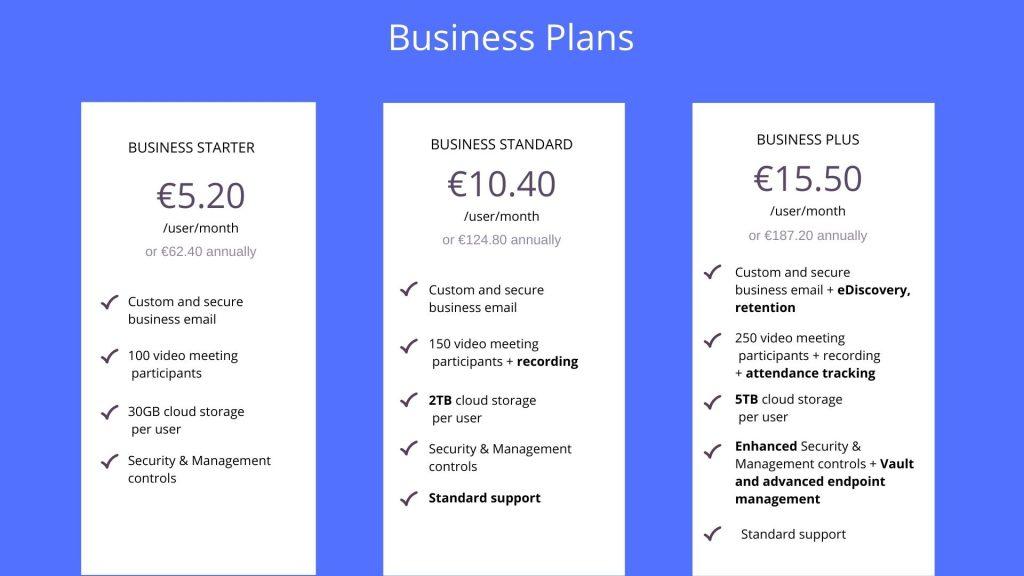 google workspace business plans