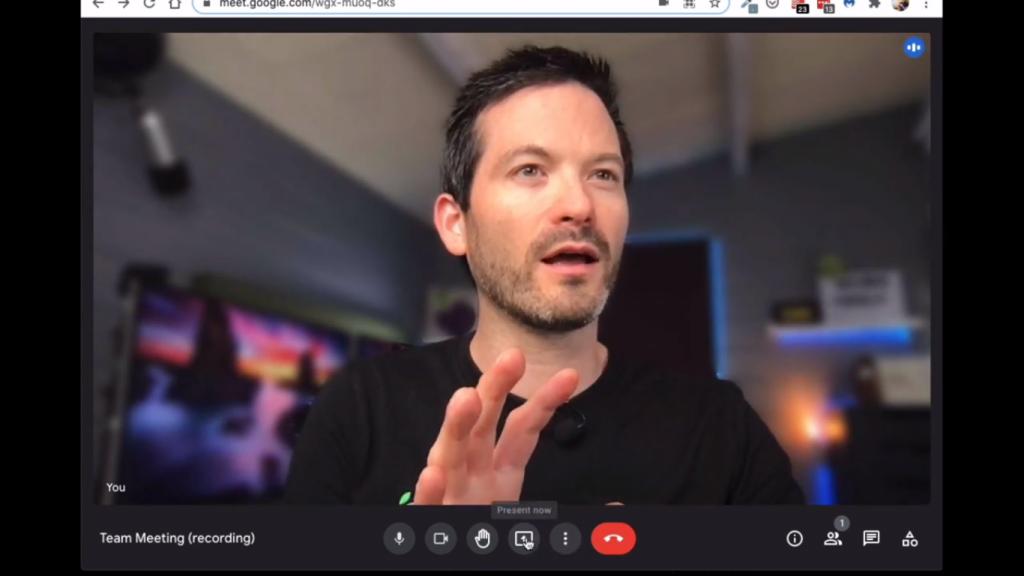 new google meet interface demo