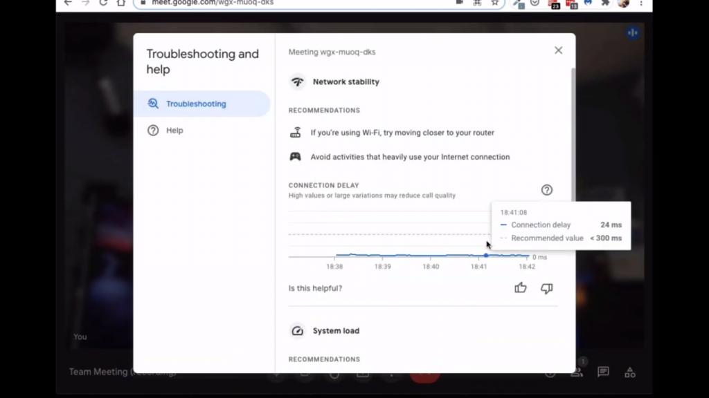 new google meet interface troubleshooting window