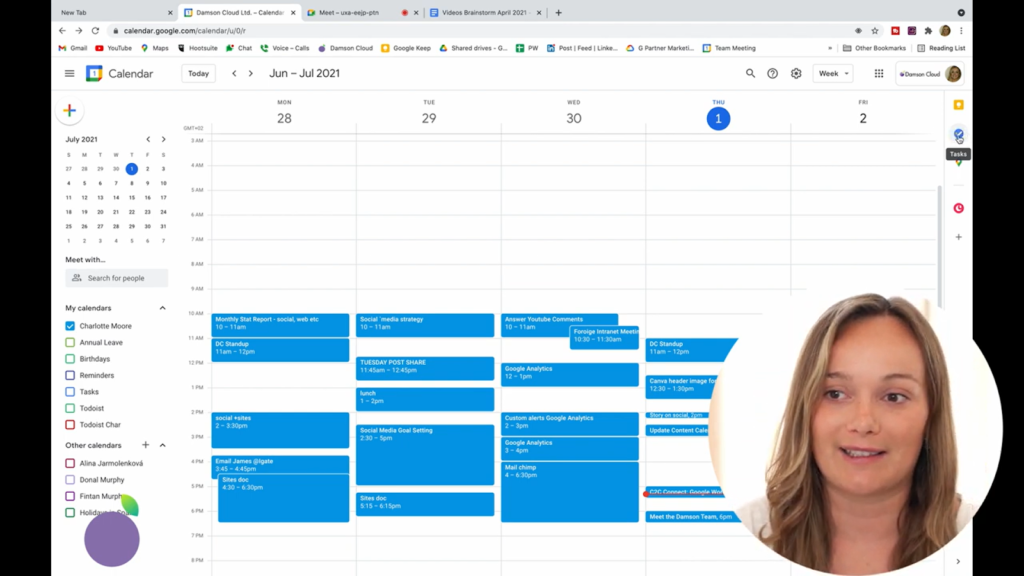 screenshot google tasks in google calendar